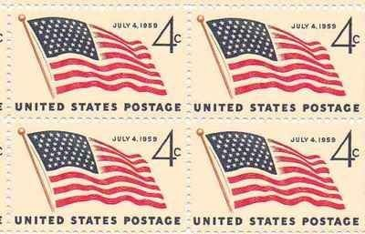 Image result for 4 cent american flag stamp