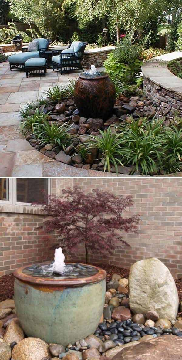 6 Make a pondless water feature to beauty your outdoor space KKA