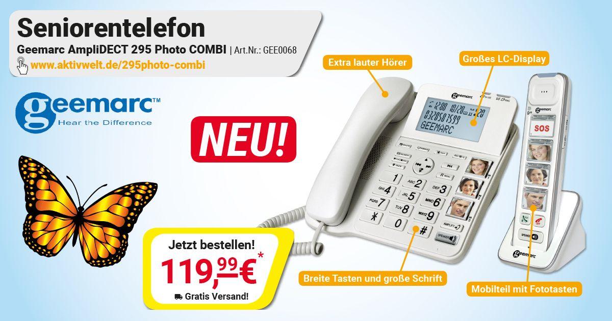 Seniorentelefon Geemarc Amplidect 295 Photo Combi Aktivwelt De Am Telefon Telefon Motto