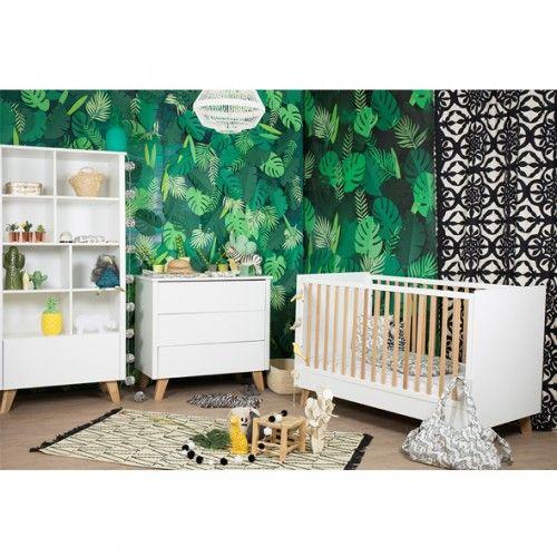 Chambre Canopee Lit 70x140 Cm Commode A Langer Et Bibliotheque Sur Natalys Chambre Bebe Draps Pour Bebe Meuble Chambre