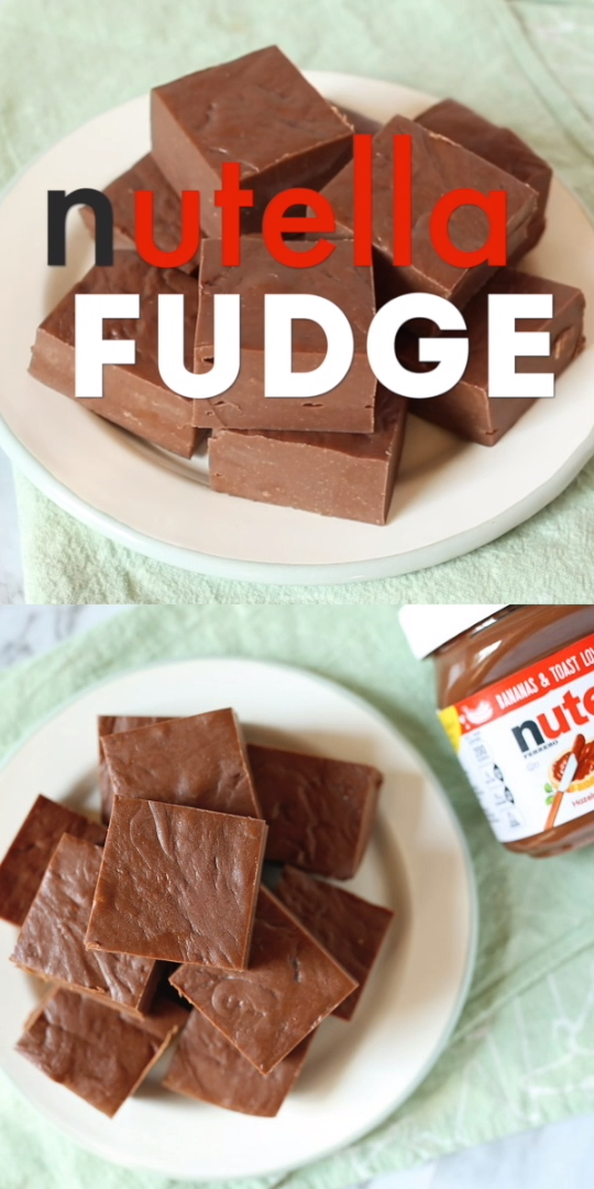 Nutella Fudge  Only 3 Ingredients! is part of Dessert recipes - Nutella fans rejoice!! This Nutella microwave fudge is beyond easy and ohsodelicious! Only 3 ingredients! Click for stepbystep photo recipe!