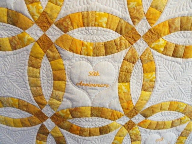 Double Wedding Ring Anniversary Quilt Double wedding rings