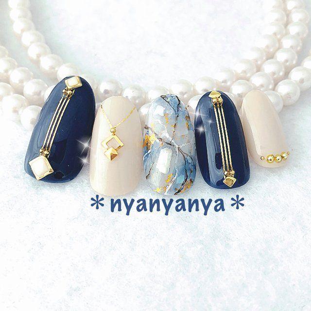 秋/パーティー/デート/女子会/ハンド - nyanyanyaのネイルデザイン[No.3432295]|ネイルブック