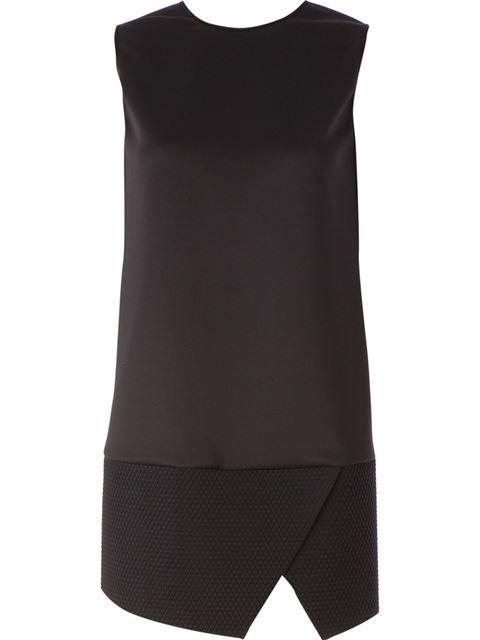 Neil Barrett quilted mini dress