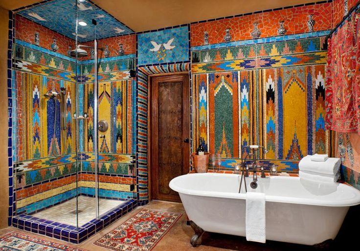 Western Style Bathroom Aoh Ma God Mexican Style Decor