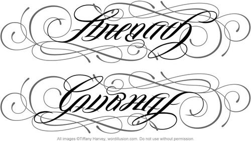 strength/courage ambigram (With images) | Ambigram tattoo