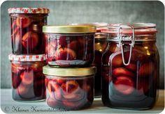 rotwein zwetschen eingeweckt deserts in jars pinterest einkochen rotwein und wein. Black Bedroom Furniture Sets. Home Design Ideas