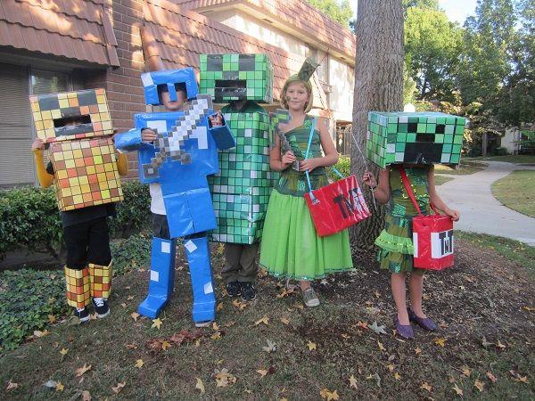 kids halloween party costumes minecraft characters DIY Halloween ...
