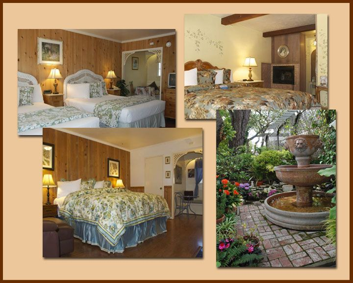 carmel garden inn. bed and breakfast in carmel-by-the-sea california; ten cozy guest rooms with wood-burning fireplaces our charming garden setting. carmel inn 0