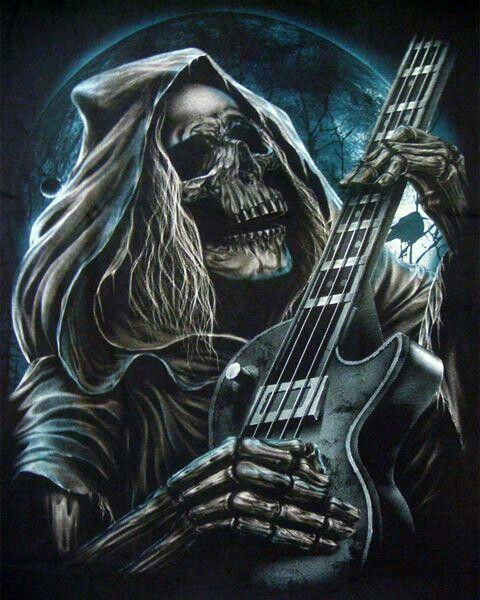 Skull Guitar Wallpaper Hd: Skulls Wallpaper