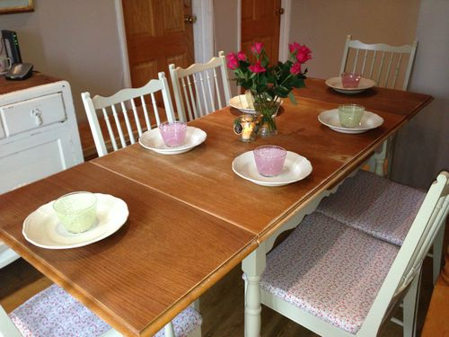 shabby chic table and chairs for sale on my ebay page modivamaison