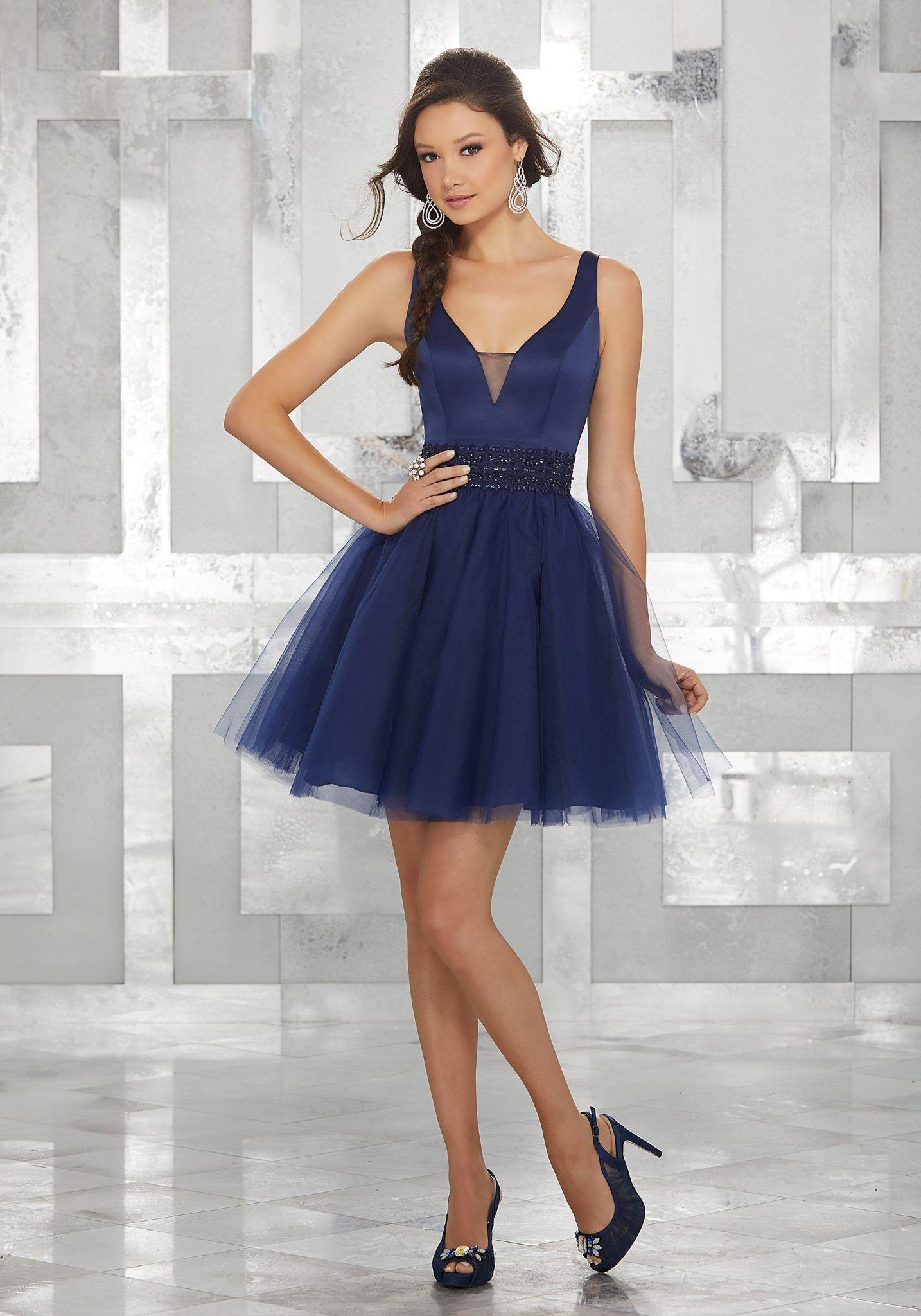 2020 Abiye Elbise Kisa Abiye Modelleri Lacivert Askili V Yakali Boncuk Islemeli Kemerli Parti Elbisesi Mezunlar Gecesi Elbiseleri The Dress
