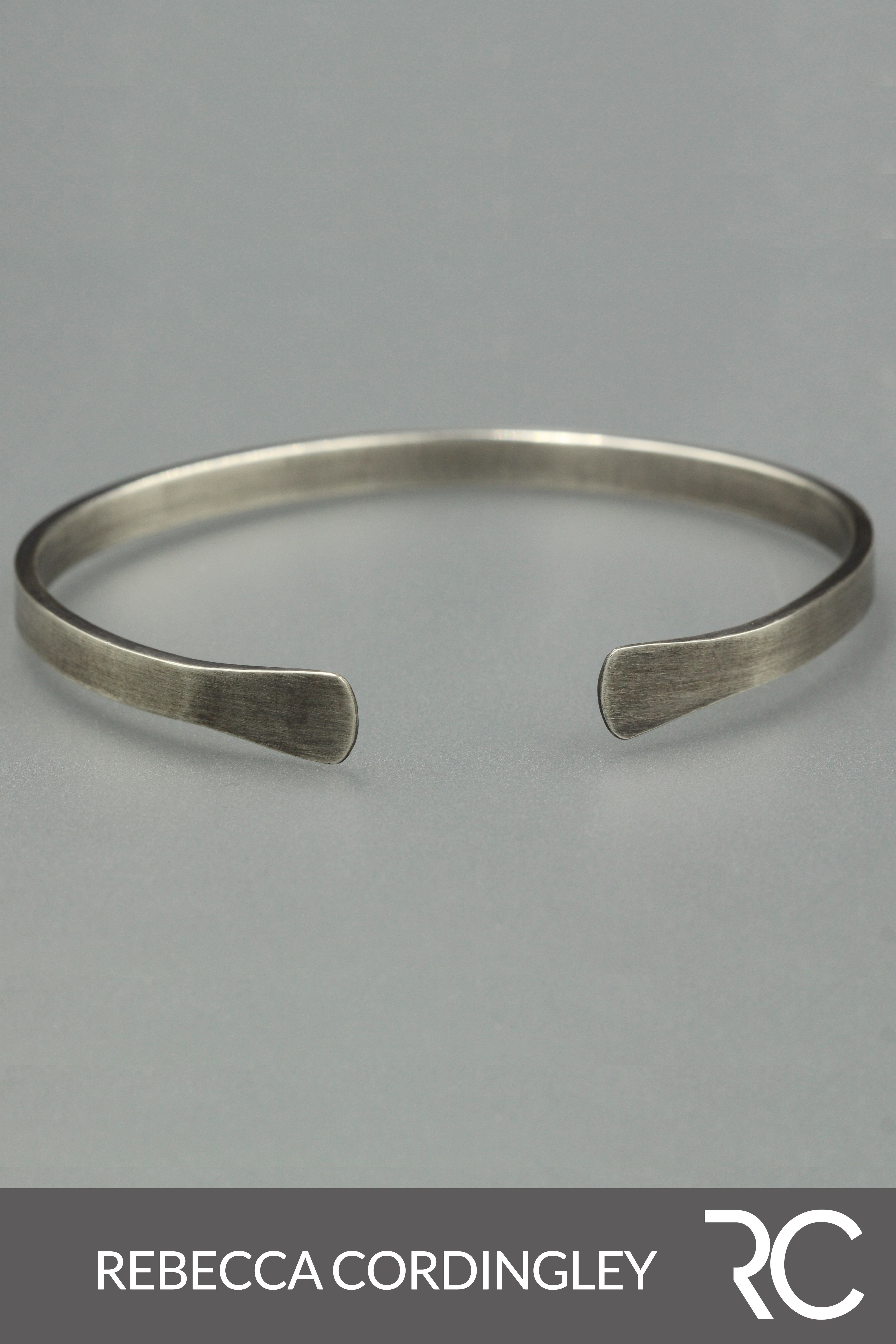 5224b4efa Cuff Bracelets Silver Handmade Jewelry on Etsy. Mens Bracelet Silver.  Rustic Jewellery Simple. A solid sterling silver cuff bracelet with splayed  ends.