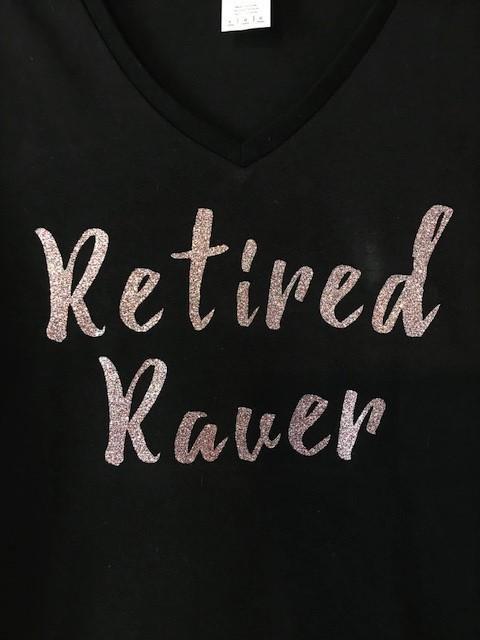 Retired Raver Womens T-Shirt, Old School EDM, festival