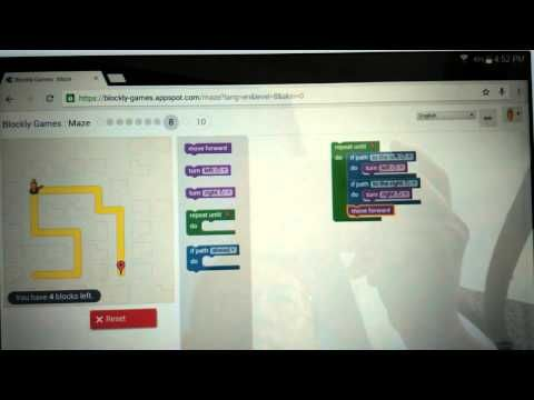 BlocklyGames : Maze - Level 8 - 15/4/15 - Yo… | #Coding