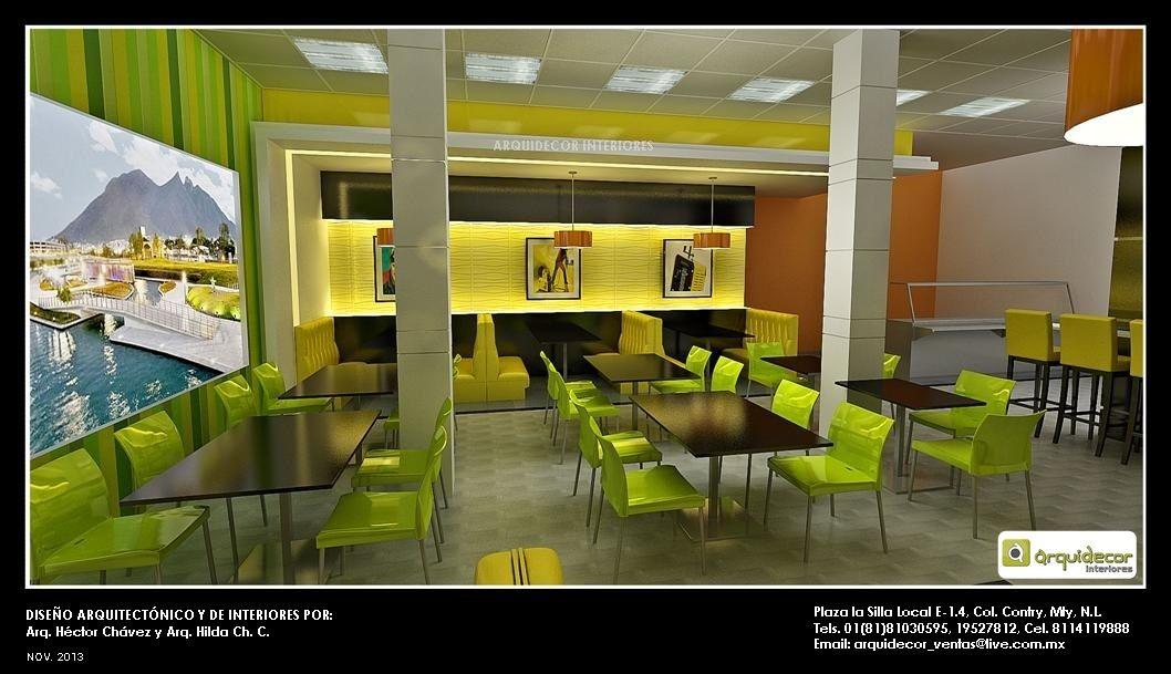 Dise o de interiores para comedor de empleador en for Taller de diseno de interiores
