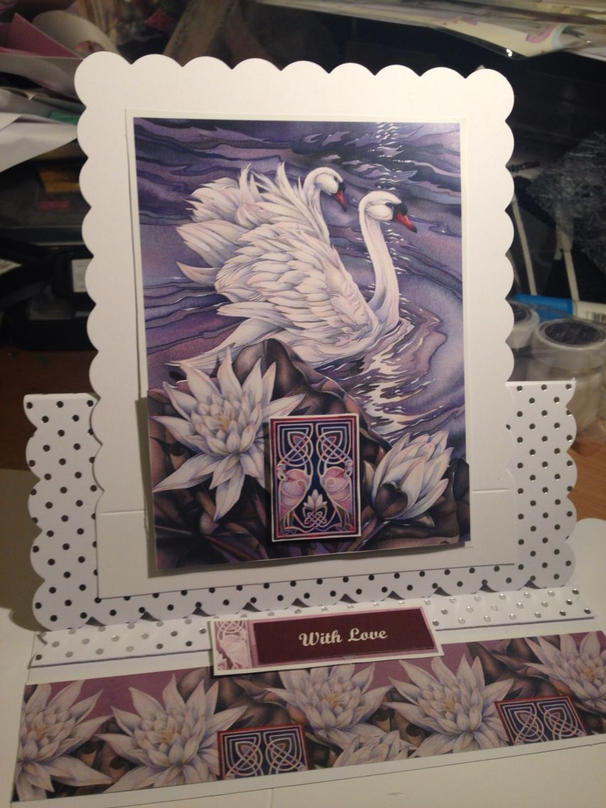 Swan Easel Card - with love