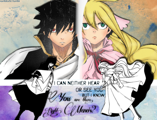 I feel like they hate each other but I still ship them... Zeref x Mavis