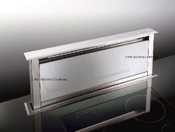 BEST Strip Glas\/Weiß Downdraft 900 mit Kochfeld Weiß LINEAR u20224 - günstige küchen angebote