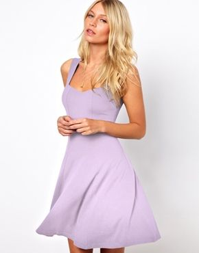 a9197b8a60884 ASOS Sleeveless Skater Dress With Sweetheart Neck