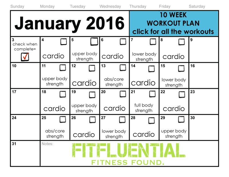 10 Week Workout Plan | 10 week workout plan, 10 week ...