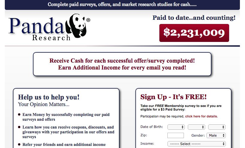 Panda Research Is Like Many Of Another Survey Website On The