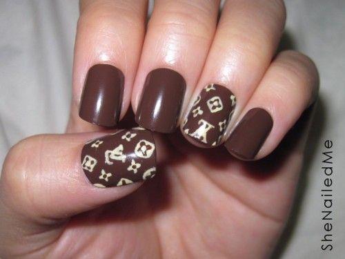 Louis Vuitton Nail Design Designer Nail Galleria Pinterest