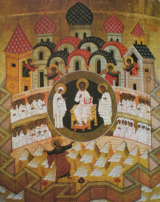 Visione di San Paolo, 1579 circa, particolare della porta diaconale nord, Cattedrale dell'Annunciazione di Sol'vycegodsk