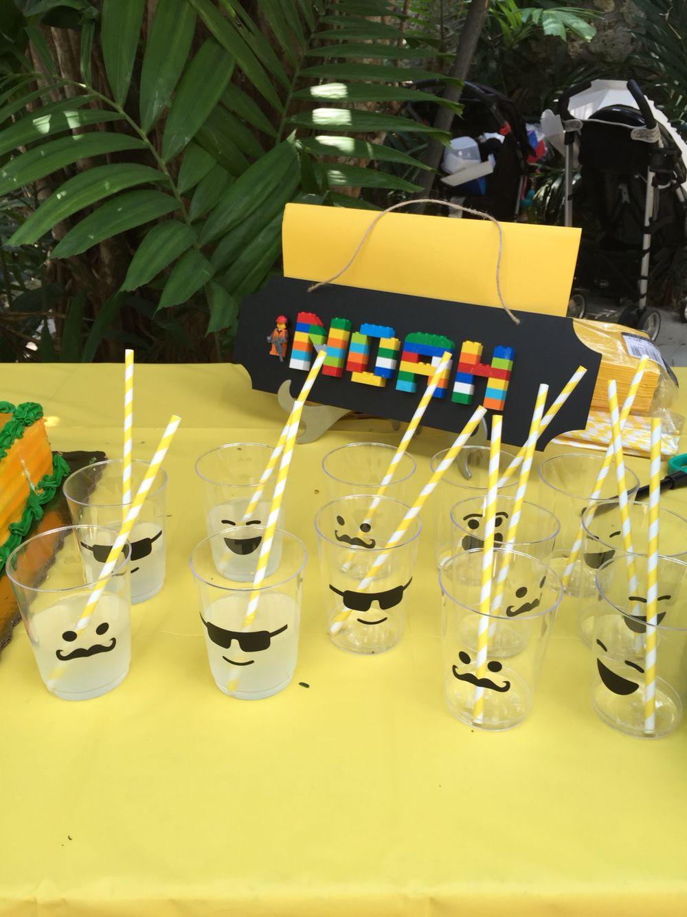 Lego face cups