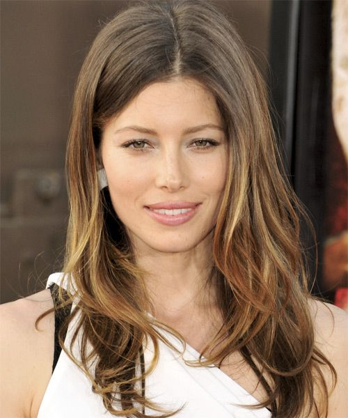 d4ececad72927 Jessica Biel Hairstyle - Long Straight Casual -