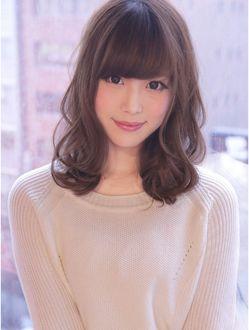 ふわっとホイップミディスタイル X I M By Visee Line 髪型 ヘア