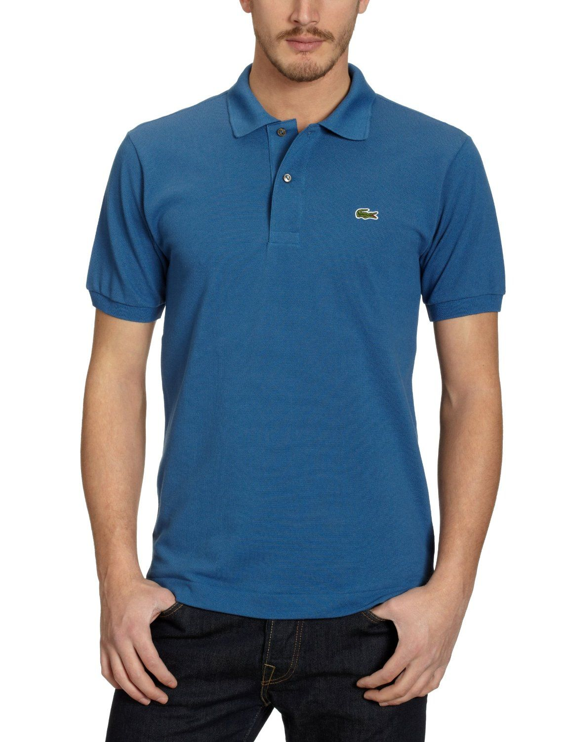 USA billig verkaufen hohes Ansehen besondere Auswahl an Blue Short Sleeve Lacoste Polo: Amazon.co.uk: Clothing | T ...