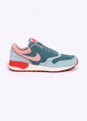 c287e5da2f3e00 Nike Footwear Air Odyssey LTR Trainers - Green Haze   Arctic Orange ...