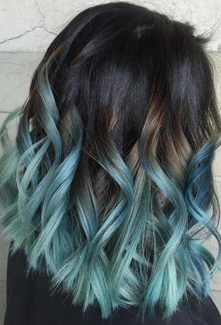 Braun Und Blau Bob Blaue Frisuren Haarfarben Und
