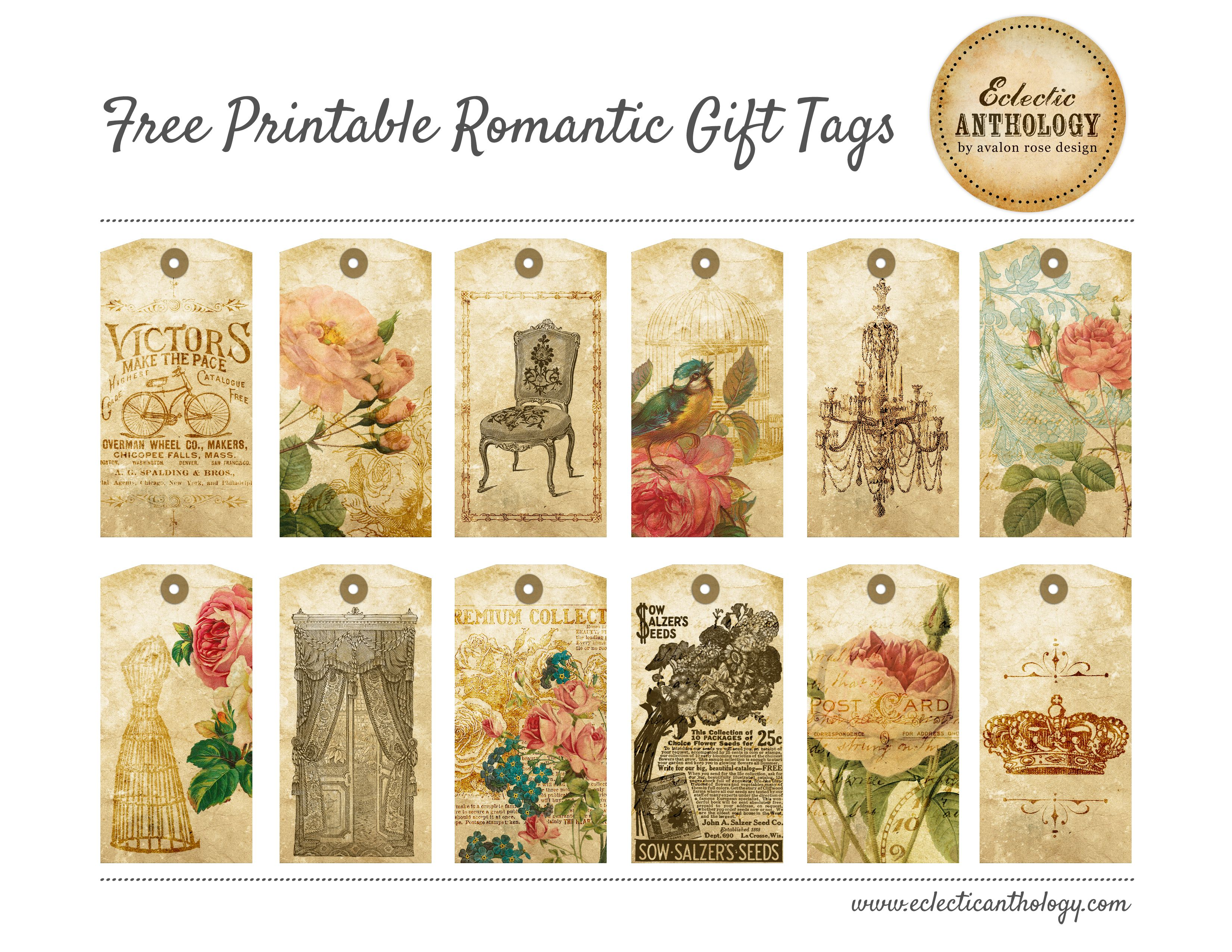 Shabby chic free printable gift tags vintage laminas pinterest shabby chic free printable gift tags negle Choice Image