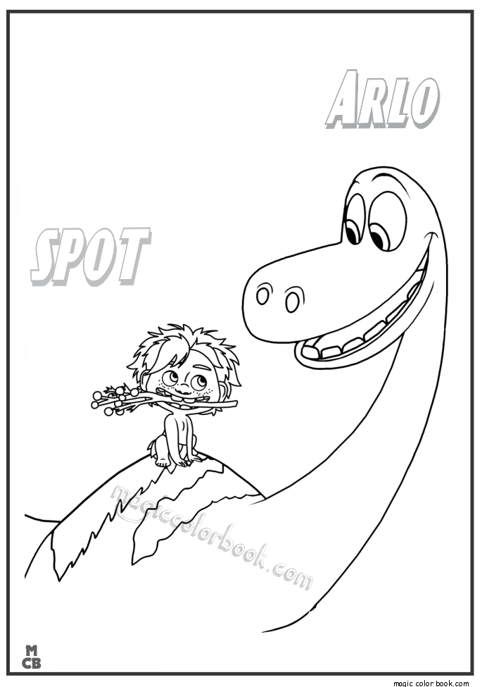Good Dinosaur Coloring Pages Free Printable Spot Arlo 30