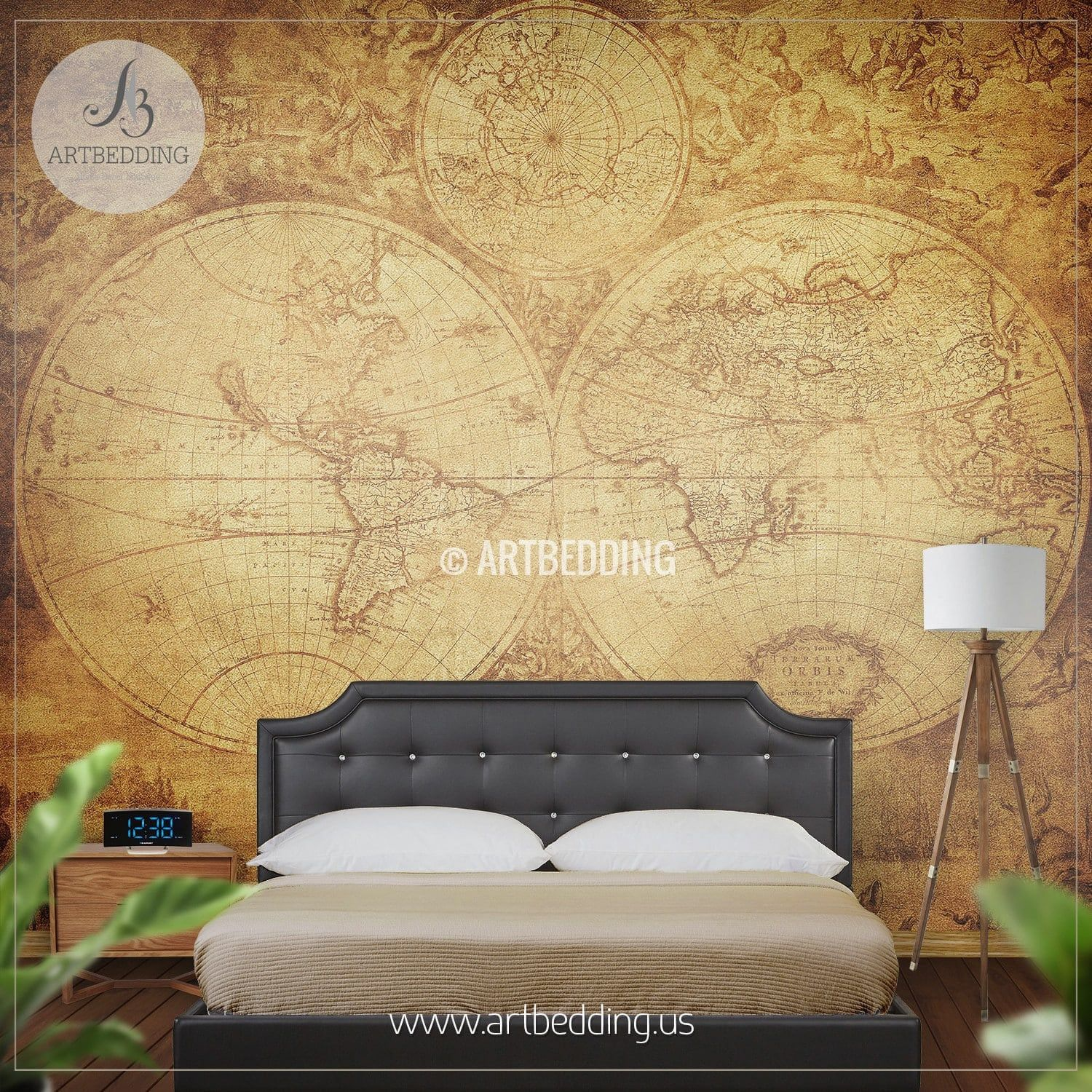 Vintage World Map (circa 1675-1710) Wall Mural, Self Adhesive Peel ...