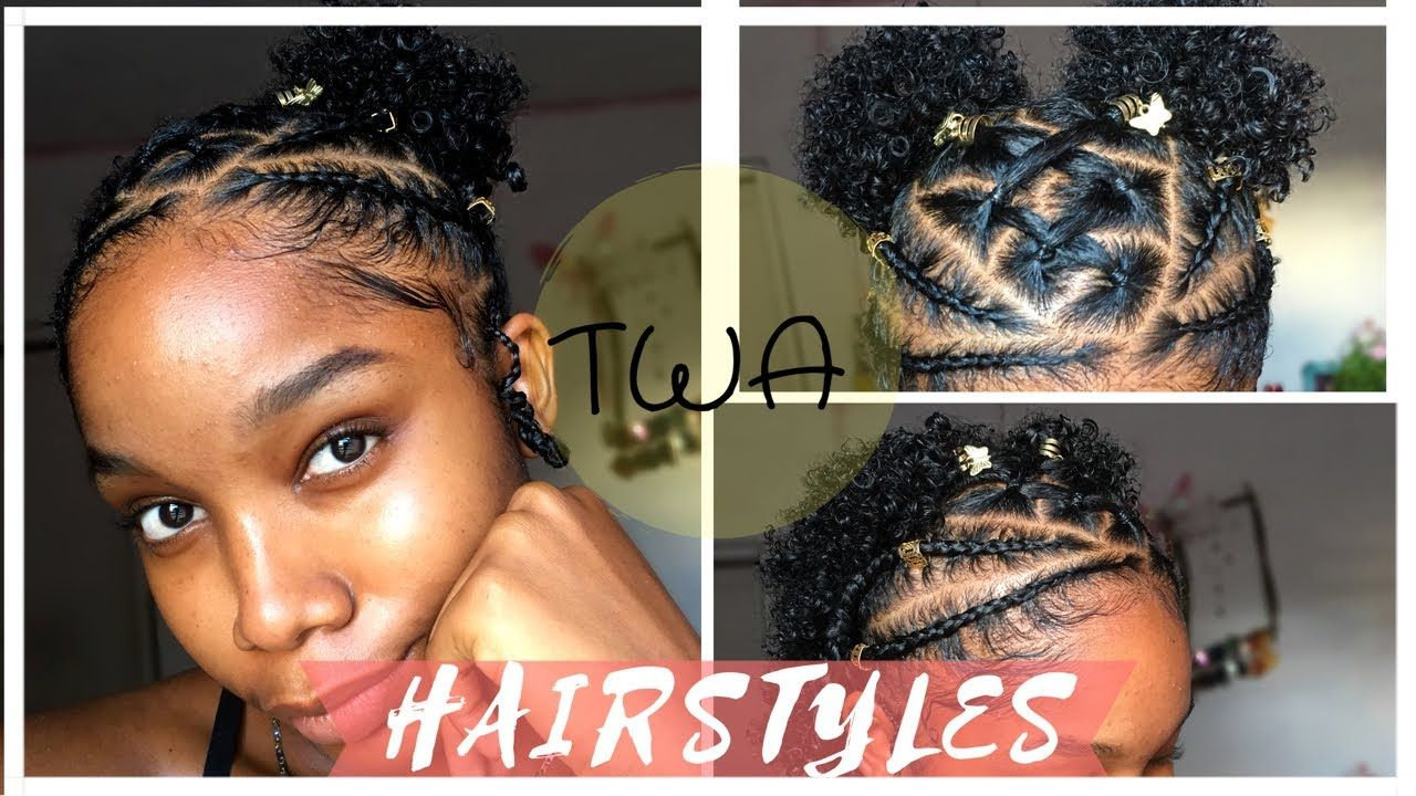 Braided hairstyles for short natural hair twa hairstyles
