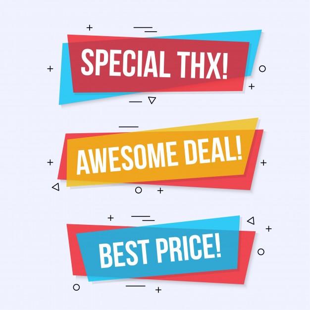 Download Modern Colored Sales Banner Set For Free Banner Design Free Graphic Design Banner