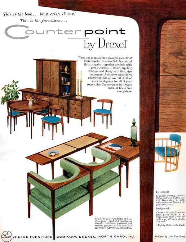 Drexel 1957 Counterpoint John Van Koert Mcm Drexel