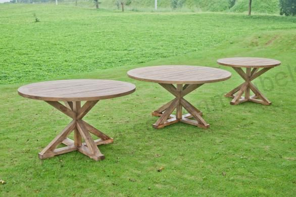 Ronde Teak Tuintafel 140cm Outdoor Tables Garden Furniture