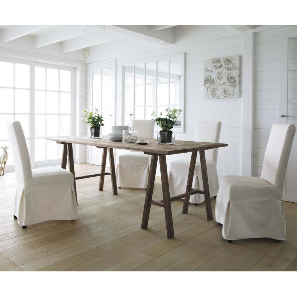 Stuhl berwurf elfenbein MARGAUX Esstisch stühle