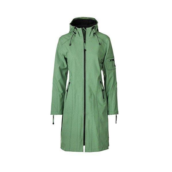 Ilse Jacobsen softshell coat long - evergreen