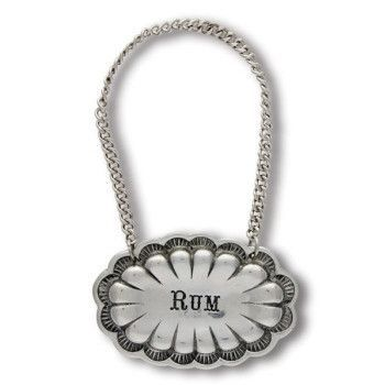Western Pewter Decanter Tags - Set of 7