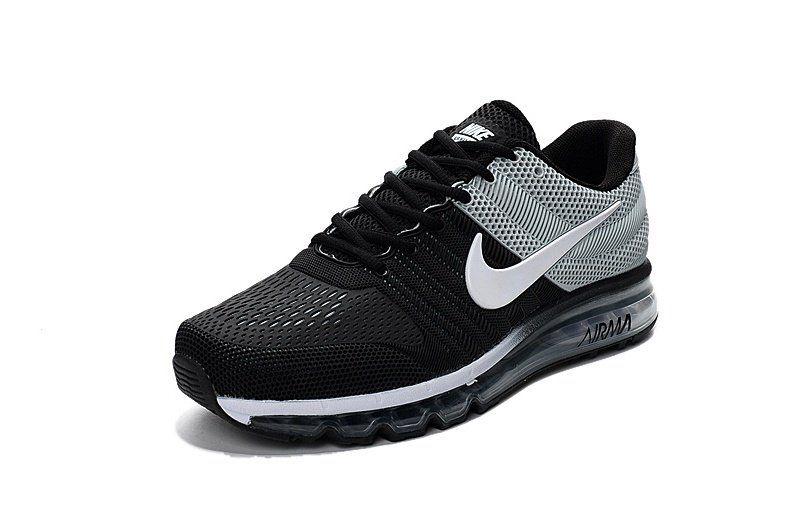 nike air max 2017 uomini nero grigio bianco scarpe da corsa pinterest