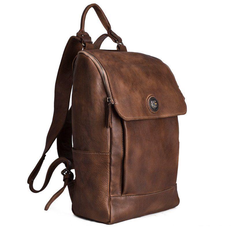 High Quality England Vintage Style Genuine Leather Men Backpacks ...