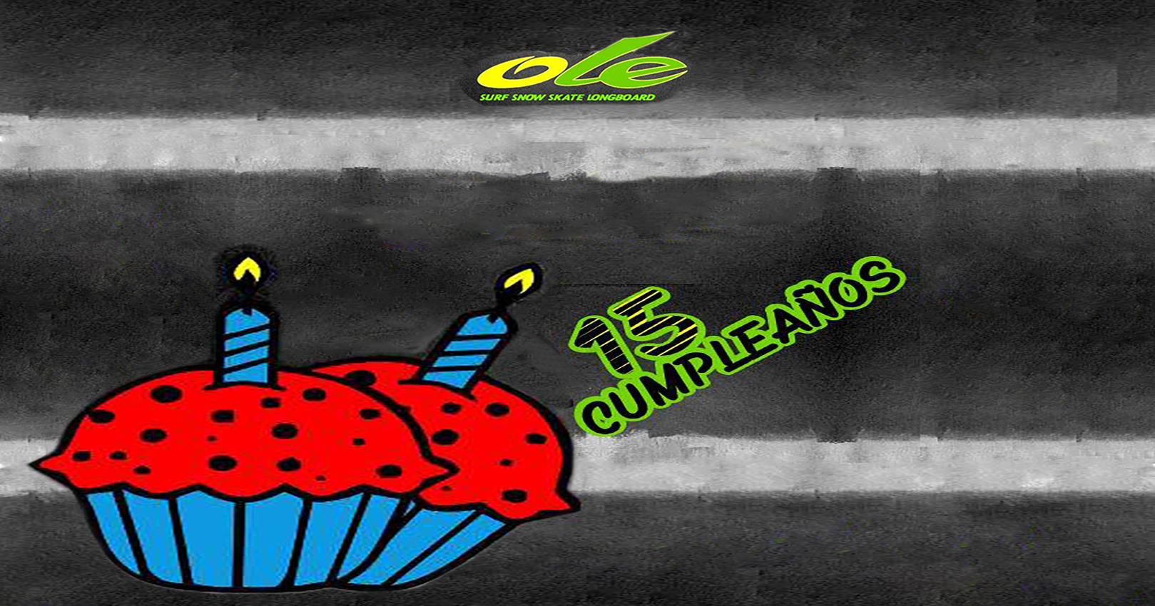 ¡¡¡¡CUMPLIMOS 15 AÑOS!!!!PARTICIPA EN EL SORTEO DE DOS PACKS DE VANS