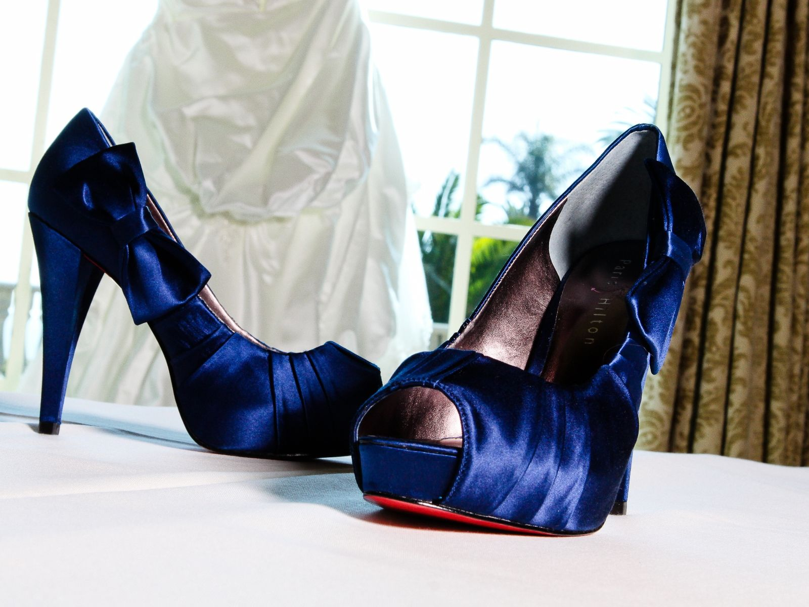 Bridal shoes navy blue color scheme monica nicole events a