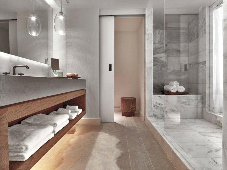 Baños minimalistas modernos 100 ideas impresionantes | Baño moderno ...