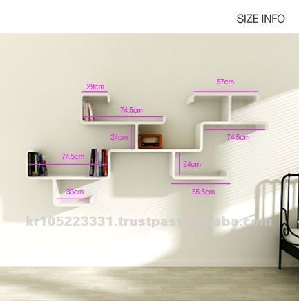 wall hanging shelves design hexagonal shape wall mount bookshelf in black and white for home furniture - Wall Hanging Shelves Design
